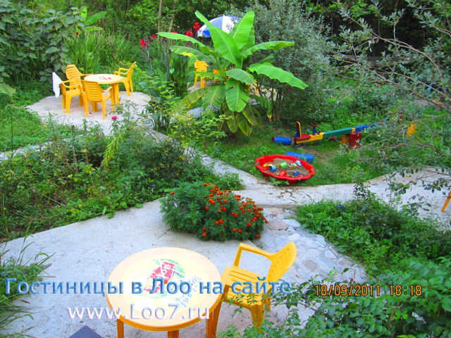 Домики в Лоо с садом и детской площадкой