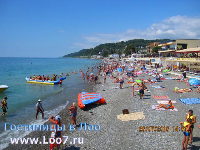 Отдых на Черноморских курортах поселка Лоо фото пляжа