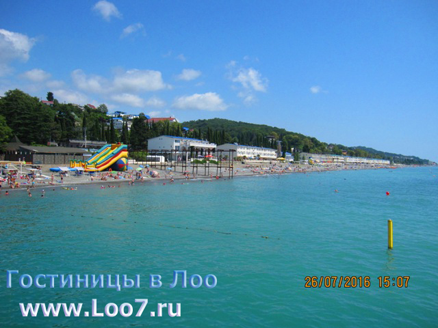 Гостиницы в Лоо у самого моря рядом с пляжем и набережной