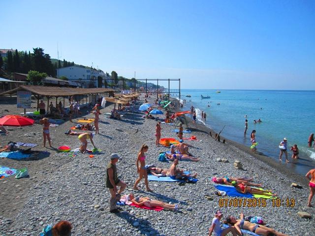 Черноморские пляжи в Лоо активный отдых фото