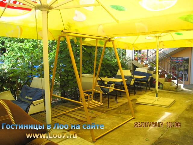 Гостиница в поселке Лоо с беседкой и мангалом