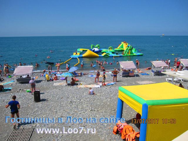 Центральный пляж рядом с гостинице 3