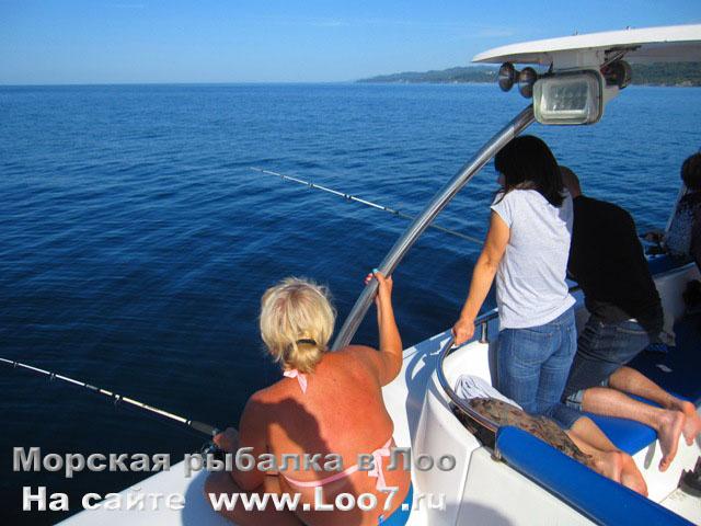 Отдых в Лоо на морской рыбалке