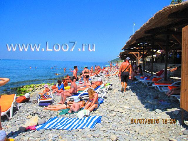 Пляж Лоо фото новой набережной у самого моря