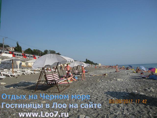 Пляж Лоо недалеко от гостиницы пешком две минуты