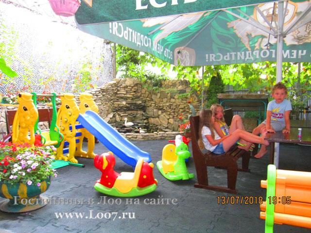 Детская площадка в гостинице