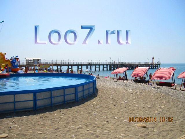 Частный сектор Лоо фото пляжа и набережной с развлечениями для детей