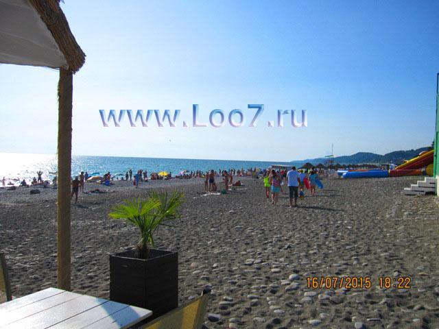 Пляж в Лоо горный воздух фото пляжа отдыхающими