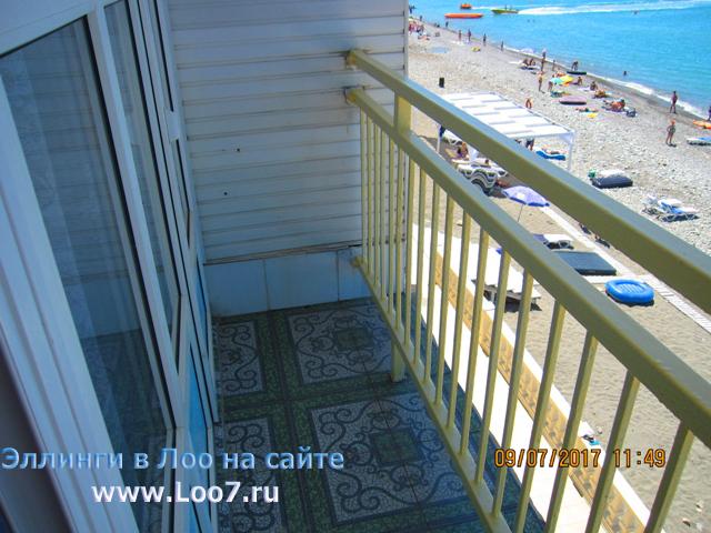 Балкон в эллинге Лоо 30 с видом на море