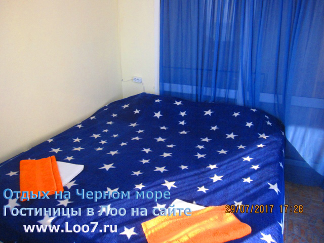 Двух спальная кровать в номере