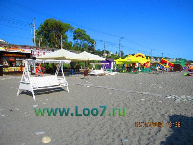 Поселок Лоо песчаный пляж один из лучших