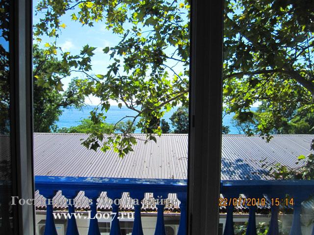 Балкон в номере вид на море