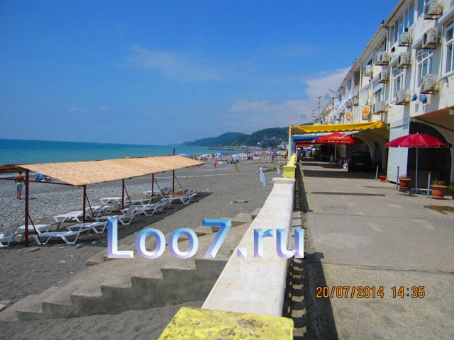 Пляж в Лоо эллинги фото
