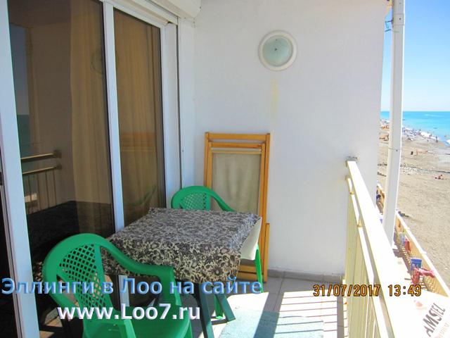 Отдых в поселке Лоо номера с балконом недорого у моря первая линия