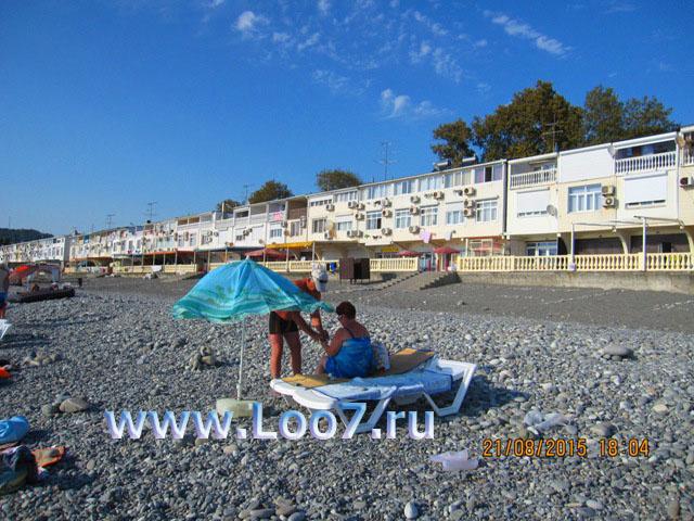 Эллинг в Лоо 27 вид с пляжа фото