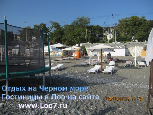 Развлечения на пляже в Лоо первая линия