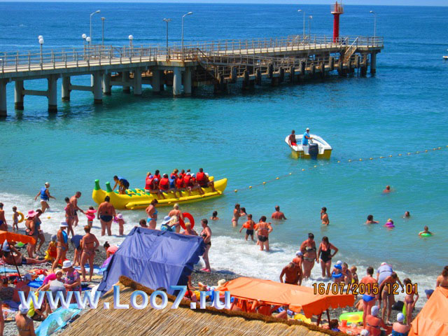 Отдых на пляже в Лоо 2017 аттракционы экскурсии в открытое море