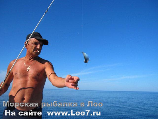 Морская рыбалка в Лоо на удочку