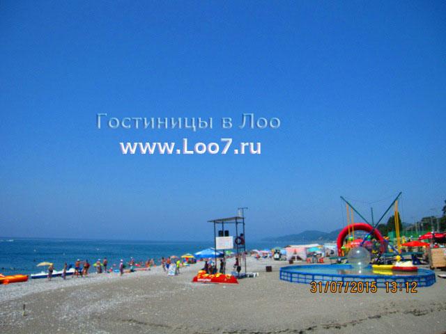 Пляж в Лоо горный воздух рядом с гостиницей 25 в Лоо