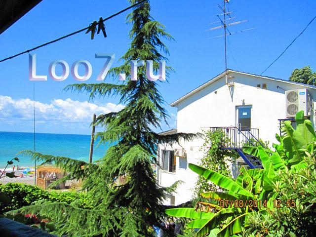 Лоо гостевые дома у самого моря фото