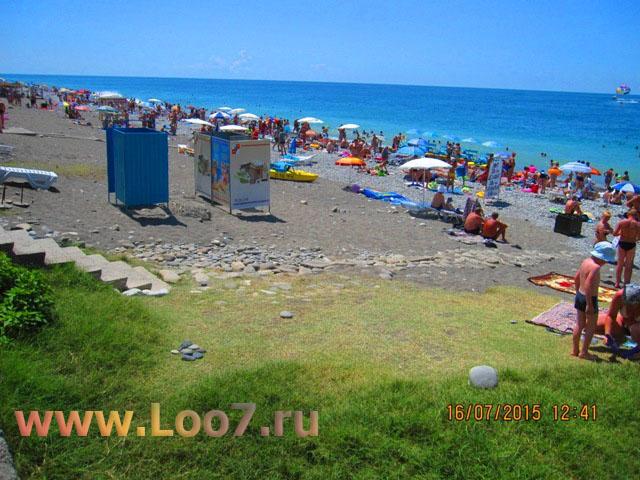 Лоо пляж рядом с гостиницей частный сектор Лоо у самого моря