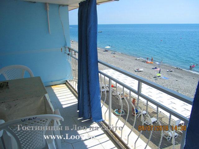 Вид на пляж Лоо с двух комнатного номера