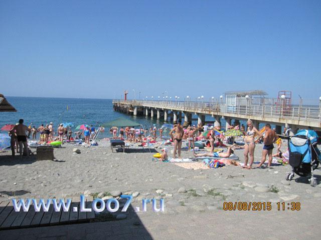 Отдых в Лоо фото пляжа и набережной снятое отдыхающими