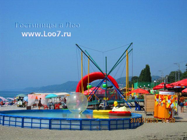 Отдых в Лоо на пляже развлечения для детей и взрослых