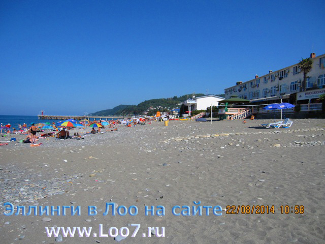 Отдых в Лоо эллинги у самого Черного моря недорого