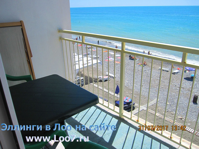 Комнаты в Лоо с видом на море и балконом