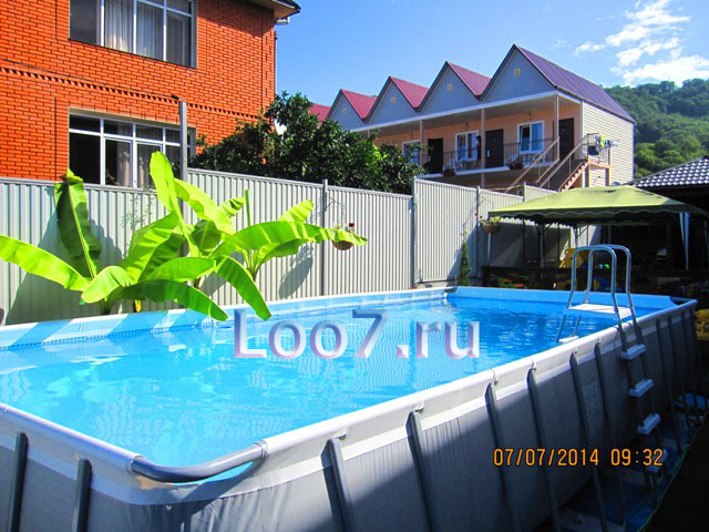 Отдых в Лоо гостиницы с бассейном частный сектор